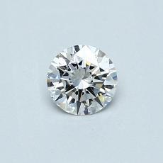 0.32-Carat Round Diamond Ideal D IF