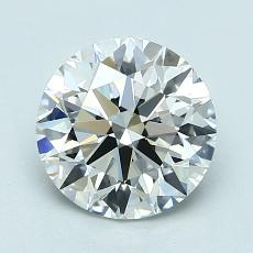 1.56-Carat Round Diamond Ideal E VS1