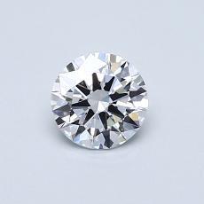 0.50 Carat 圆形 Diamond 理想 D VVS2