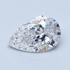 1.01-Carat Pear Diamond Very Good D SI1