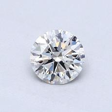 0,50-Carat Round Diamond Ideal D VVS2
