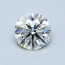 0.90-Carat Round Diamond Ideal E VS2