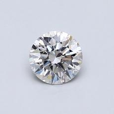 0,53 Carat Rond Diamond Idéale I SI2
