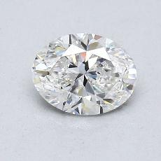 0.72 Carat 橢圓形 Diamond 非常好 F SI2