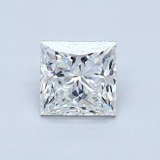 0.81-Carat Princess Diamond Very Good G VVS2