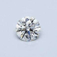 0.40-Carat Round Diamond Ideal F VS1