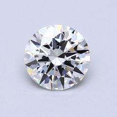0.82-Carat Round Diamond Ideal H IF