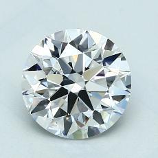 1.50 Carat 圆形 Diamond 理想 E VVS2