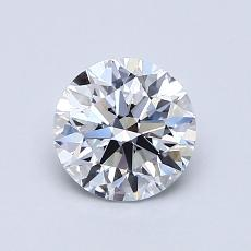 0.91-Carat Round Diamond Ideal D FL