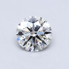 0,70-Carat Round Diamond Ideal G VVS1