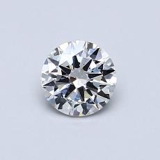 0,50-Carat Round Diamond Very Good G SI1