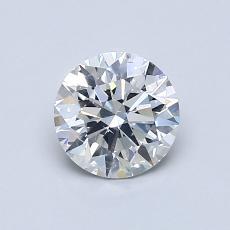 0.75 Carat 圆形 Diamond 理想 G SI1
