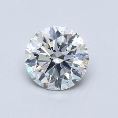 0,80-Carat Round Diamond Ideal G SI1
