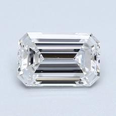 1.00-Carat Emerald Diamond Very Good D IF