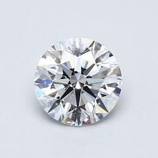 0,80-Carat Round Diamond Ideal D VS1
