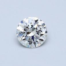 0.50 Carat 圓形 Diamond 理想 G VVS1
