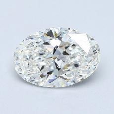 0,83 Carat Ovale Diamond Très bonne F VS1