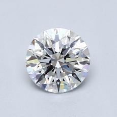 0.70-Carat Round Diamond Ideal E VVS2