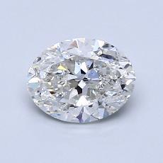 1.00-Carat Oval Diamond Good F SI2
