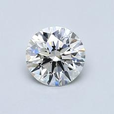0,70-Carat Round Diamond Ideal H VS1