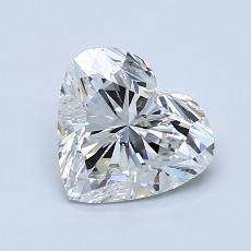 Piedra recomendada 1: Diamante con forma de corazón de 1.20 quilates