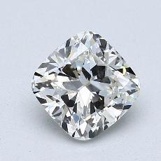 Pierre recommandée n°1: Diamant Taille coussin de 1,09carat