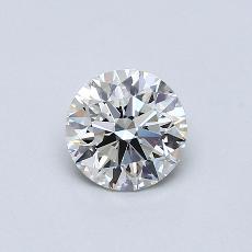 0.90-Carat Round Diamond Ideal H VS1