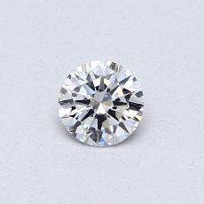 0,30-Carat Round Diamond Ideal D IF