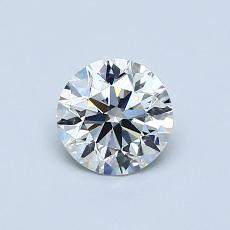 0.60-Carat Round Diamond Ideal D VS1