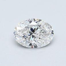 0,50 Carat Ovale Diamond Très bonne F VS2
