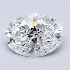 1.55 Carat 椭圆形 Diamond 非常好 D VS1