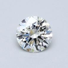 0,70-Carat Round Diamond Ideal J VVS2