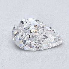 0.81 Carat 梨形 Diamond 非常好 D VS1