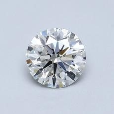 0,71-Carat Round Diamond Ideal G VVS2