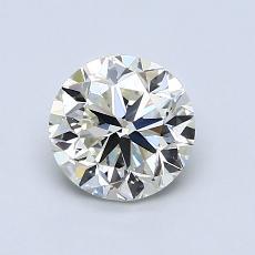 1.00 Carat 圆形 Diamond 良好 K VVS2