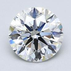 2.00 Carat 圓形 Diamond 理想 F VS1