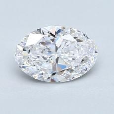 1.20 Carat 橢圓形 Diamond 非常好 D IF