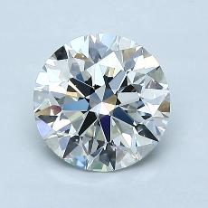 1,31-Carat Round Diamond Ideal H VVS2