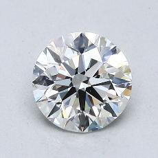 1,00-Carat Round Diamond Ideal H VVS2