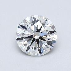 0.75-Carat Round Diamond Ideal E VS2