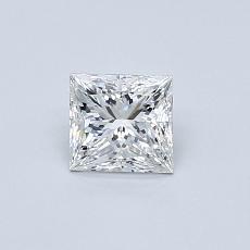 0.50 Carat 公主方形 Diamond 非常好 F VVS1