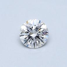 0.40-Carat Round Diamond Ideal E SI1