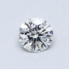0,52-Carat Round Diamond Ideal E IF