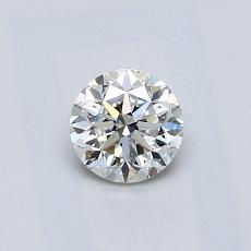 0,51-Carat Round Diamond Good H SI1