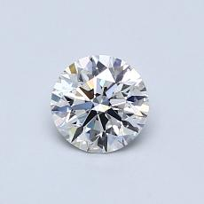 0.51-Carat Round Diamond Ideal F VVS2