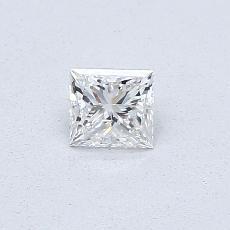 0.31 Carat 公主方形 Diamond 非常好 F SI1