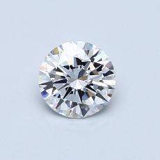 0,53-Carat Round Diamond Ideal D VVS2