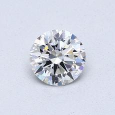 0.50 Carat 圆形 Diamond 理想 E VVS2
