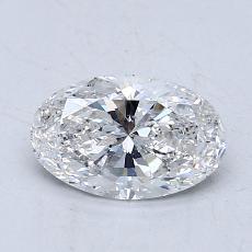 1.05 Carat 椭圆形 Diamond 良好 F SI2