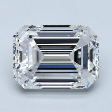 3,01-Carat Emerald Diamond Very Good D VS1